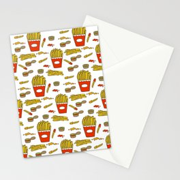 Fries With Sauce Stationery Cards