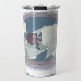 Astronaut and ice planet Travel Mug