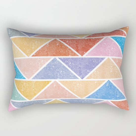 Colorful Triangle IV(Ranging Tribuj Char) Rectangular Pillow
