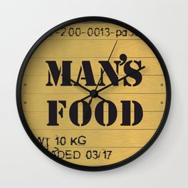 Man food Wall Clock