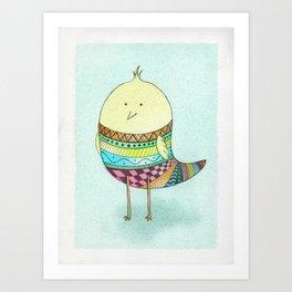 Little Claire's Bird Art Print