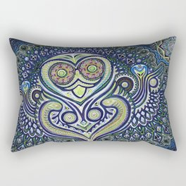 Inner Light / Psychedelic Owl Rectangular Pillow
