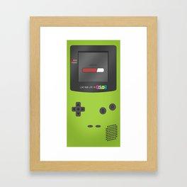 Gameboy Color (green) Framed Art Print