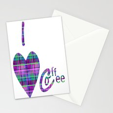Coffee In Plaid Stationery Cards