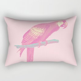 Pink Parot Rectangular Pillow
