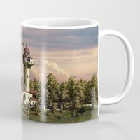 astronomy Mugs featuring Astronomy tower by Alexander Atkishkin