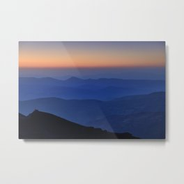 Sierra Nevada. Sunset at the mountains. Astronomical Observatory at 3000 meters Metal Print
