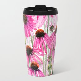 pink coneflower field Travel Mug