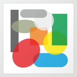 Tech geometric colorful Background #society6 #decor #buyart #artprint Art Print