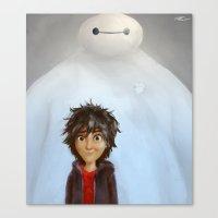 big hero 6 Canvas Prints featuring Big Hero 6 by MikakoskArts