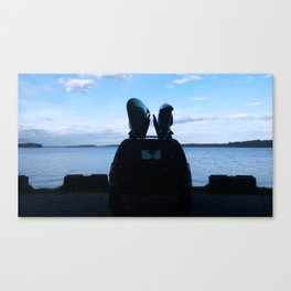 Kayaking in Puget Sound Canvas Print