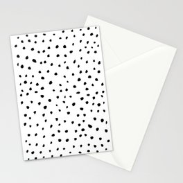 spotted - black Stationery Cards