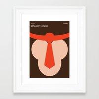 donkey kong Framed Art Prints featuring Poster Nintendo Donkey Kong by Samir Kharrat