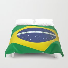 Brasil Nation flag travel poster Duvet Cover