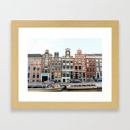 Buildings of Amsterdam Framed Art Print