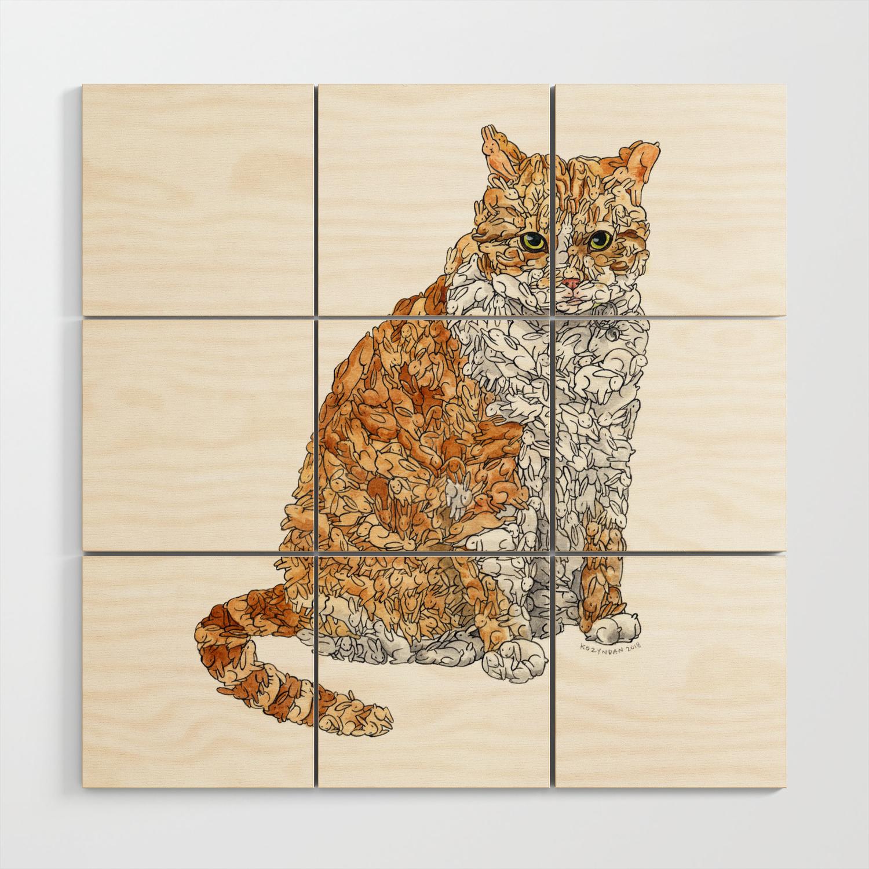 Tabby Bunny Kitty Wood Wall Art By Kozyndan Society6