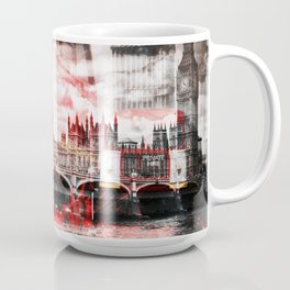 City-Art LONDON Red Bus Composing Coffee Mug