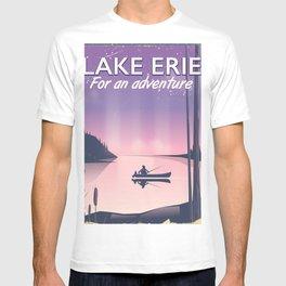 Lake erie fishing travel poster T-shirt