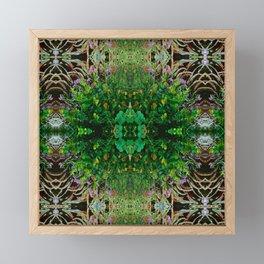Cocoplum and Cattails op nature pattern Framed Mini Art Print