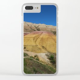Colorful Badlands Landscape Clear iPhone Case
