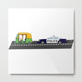 High Speed Chase Metal Print