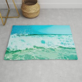 Clashing Waves Rug