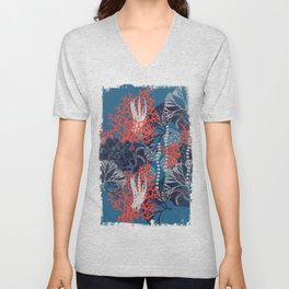 Corals and Starfish Unisex V-Neck