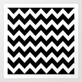 Chevron Black & White Art Print