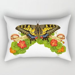 Old World Swallowtail Butterfly Rectangular Pillow