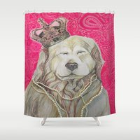 marley Shower Curtains featuring The Marley Series: Czarley by Katie Duker
