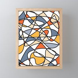 Abstract Waves Of Colors Framed Mini Art Print