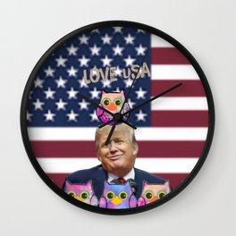 Donald Trump Presiclent-158 Wall Clock