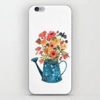 oana befort iPhone & iPod Skins featuring Garden Flowers by Oana Befort