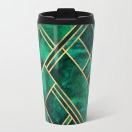 Emerald Blocks Travel Mug