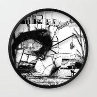pittsburgh Wall Clocks featuring PITTSBURGH, PENNSYLVANIA by Alberto Matsumura