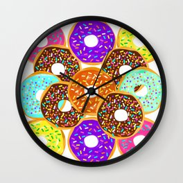 Doughnut Disturb Me When I'm Eating Wall Clock