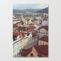 prague Canvas Prints featuring prague by Karen