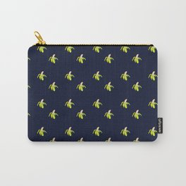 peeled banana on blue Carry-All Pouch