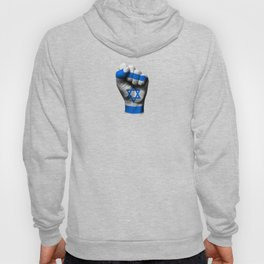 Israeli Flag on a Raised Clenched Fist Hoody