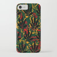 rasta iPhone & iPod Cases featuring Rasta Leaves... by Cherie DeBevoise