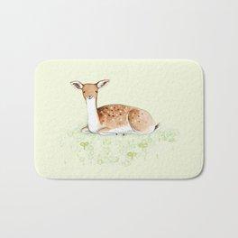 Happy Fallow Deer Bath Mat