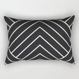 Diamond Series Pyramid White on Charcoal Rectangular Pillow
