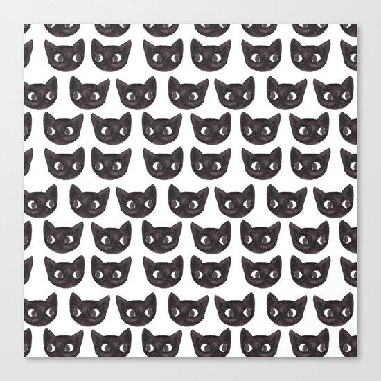 Black Cats // Lots of Black Cats Canvas Print
