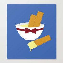 fish fingers and custard Canvas Print