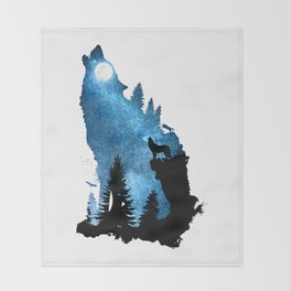 The Howling Wind Throw Blanket