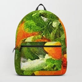 TROPICAL ORANGE TREE PAINTING Backpack