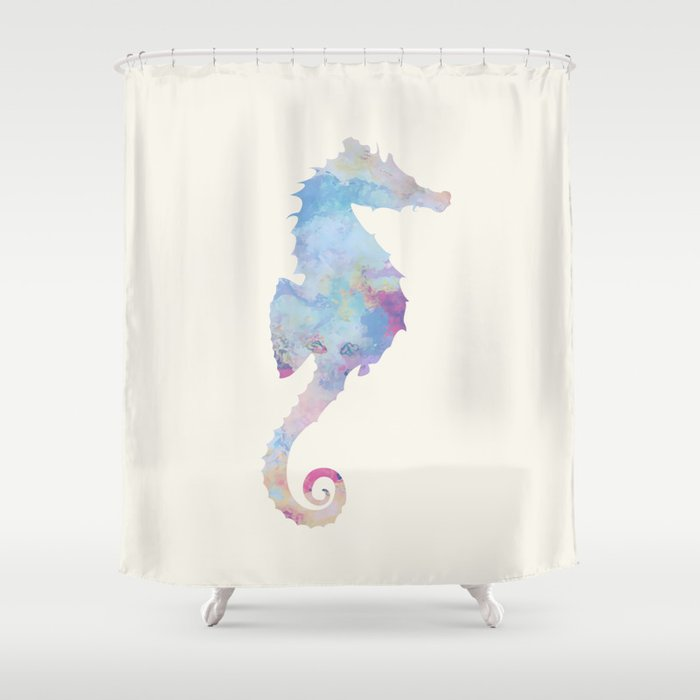 AFE Watercolor Seahorse Shower Curtain By Afeimages
