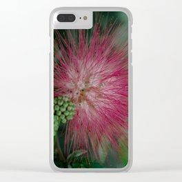 Calliandra. Flower. Clear iPhone Case
