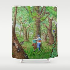 A Day of Forest (3). (Observe the tree) Shower Curtain