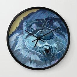 Mustache the Otter Wall Clock